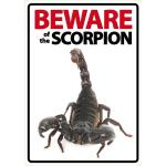 Beware Sign: Scorpion
